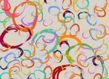 颜料画笔画圈涂抹痕迹PS笔刷下载