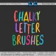 酷的粉笔纹理的英文字母素材PS笔刷下载