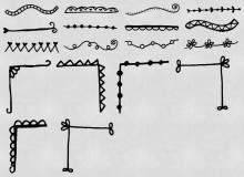 可爱手绘的线条图案Photoshop线条花纹笔刷