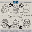 漂亮的童趣涂鸦复活节彩蛋花纹图案PS笔刷下载