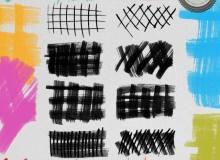 画笔刷子网格图案PS笔刷下载