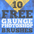 10种免费的斑驳、陈旧纹理效果Photoshop笔刷下载