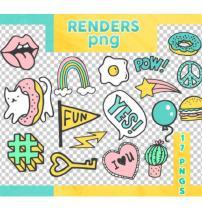 可爱卡通贴纸装扮之韩国笔刷风格下载(PNG免扣图透明格式)