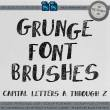 复古风格的西文字母Photoshop笔刷下载素材