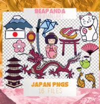 可爱日本元素卡通贴纸图案之韩国笔刷风格下载(PNG免扣图透明格式)