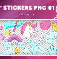 童话王国卡通贴纸图案之韩国笔刷风格下载(PNG免扣图透明格式)