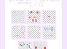 扮可爱装嫩表情装饰图案之韩国笔刷风格下载(PNG免扣图透明格式)