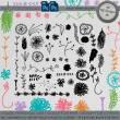 手绘童趣涂鸦花纹素材PS笔刷免费下载