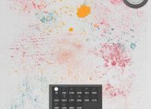 油漆、油墨滴溅、喷溅纹理效果Photoshop笔刷素材