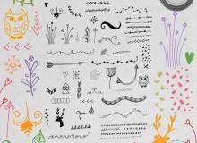 卡哇伊童趣手绘装饰图案Photoshop笔刷下载