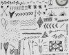 可爱童趣手绘线条涂鸦图案Photoshop笔刷素材下载