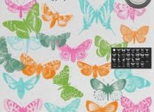 蝴蝶、飞蛾图形Photoshop笔刷素材