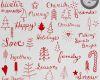 圣诞节快乐童趣涂鸦小树等装饰图案Photoshop笔刷素材下载