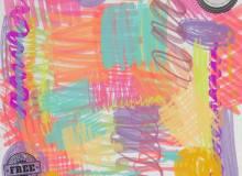 水彩、马克笔、蜡笔涂抹痕、涂鸦迹纹理Photoshop笔刷素材下载