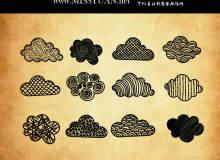 可爱卡通手绘涂鸦云朵图案PS笔刷下载