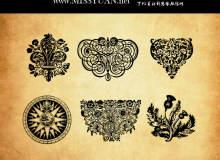复古欧式古典花纹图案Photoshop笔刷素材下载