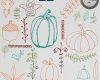 手绘童趣涂鸦南瓜、猫头鹰、植物印花图案Photoshop笔刷素材下载