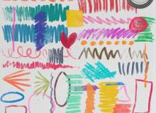 手绘蜡笔、马克笔涂鸦痕迹Photoshop笔刷素材下载