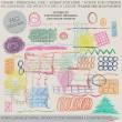 高清手绘式杂乱线条、涂鸦图形PS笔刷素材下载