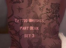 欧美神话风格纹身、刺青图案Photoshop笔刷下载
