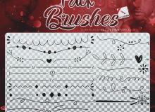 手绘涂鸦线条、分割线PS笔刷素材下载