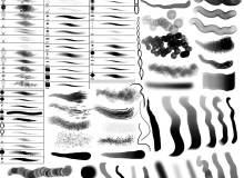 自由数字艺术画笔笔触效果Photoshop笔刷素材