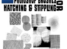 交叉编织物效果纹理、条纹污渍Photoshop笔刷素材下载