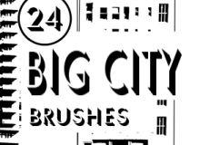 24种公寓楼影效果、版刻式大楼PS笔刷下载