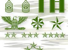 美国陆军军衔图案photoshop自定义形状素材 .csh 下载