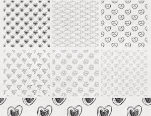 手绘恋爱爱心图案Photoshop填充图案文件底纹素材(PNG图片格式)