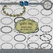 手绘花纹圆环、花圈图案Photoshop笔刷素材免费下载