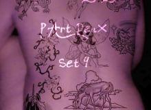 欧美非主流风格的纹饰、纹身、刺青图案素材PS笔刷免费下载