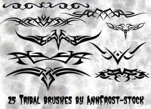 酷炫犀利的纹饰图案、钢铁直男的纹身刺青效果PS笔刷下载
