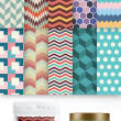 10种时尚靓丽的几何图形组合背景PS填充素材(另含PNG格式、Ai格式素材)