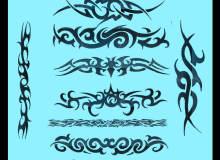 犀利的纹饰刺青图案Photoshop笔刷下载