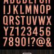 高清灯泡字体风格PS笔刷素材文件下载(PNG透明格式)