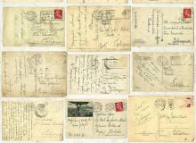24种复古的老旧明信片PS背景笔刷纹理素材
