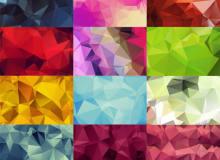 20个高分辨率的几何多边形融合背景PS笔刷素材(JPG图片格式)