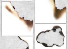 6种高清纸张燃烧过、灼烧过痕迹PS笔刷素材(PNG透明格式)