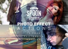 14种照片快速滤镜效果Photoshop动作免费下载