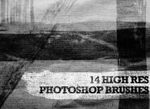 高清的混合毛笔笔刷Photoshop素材包下载