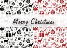 欢乐的圣诞节卡通背景装饰Photoshop填充图案底纹素材 Patterns 下载