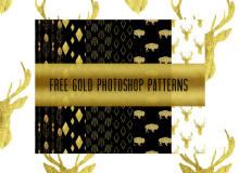 8种金色花纹、土豪金装饰图形Photoshop填充图案底纹素材 Patterns 下载