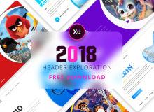 10种精美的电影卡片UI设计 – Adobe XD模板素材免费下载