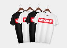 T恤样机、体恤衫模板素材 –  PSD文件下载