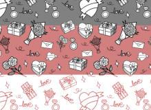 情人节、七夕节爱情、热恋背景PS填充底纹素材下载