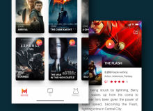 Mao Trailer IOS UI工具包 电影主题App –  Sketch模板素材下载