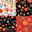 5种多彩矢量花卉图案Photoshop填充图案文件底纹素材 .pat 下载