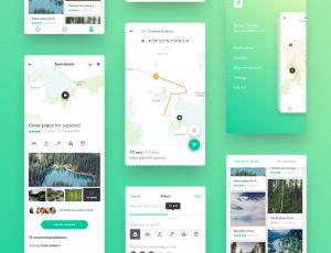iOS App 地图应用程序模板 –  Sketch 设计素材免费下载