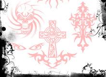 魔鬼、恶魔图章纹身、刺青图案Photoshop纹饰笔刷素材